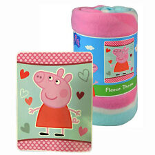 "Peppa Pig Fleece Throw & Blanket 45""x60"" NEW"