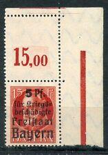 Bayern Nr: 172 AL mit Leerfeld OR Eck Postfrisch Einwandfrei Michel ohne Preis