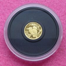 2009 AUSTRALIA  P20 KOOKABURRA GOLD 1/20TH  FIVE DOLLARS $5 PROOF COIN