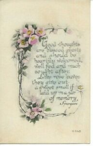 """""""Good Thoughts are Blessed Guests..."""" Poem by Spurgeon, Rose Vine"""