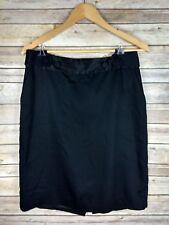 Banana Republic Women's Skirt 8 Black Pencil Straight Stretch Rayon Wool Career