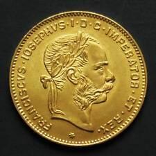 Pièce or 4 florins / 10 francs François-Joseph Ier Autriche 1892 gold coin