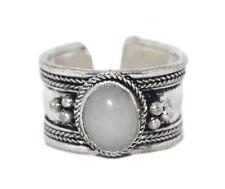 Moonstone ring healing ring Silver ring Nepal ring Tibetan ring Boho Ring C