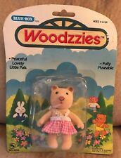 "Woodzzies Bear Small Figure 3"" 1974 Vintage New In Box Doll Htf"