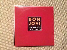 BON JOVI SPANISH CD SINGLE SPAIN IT'S MY LIFE LIVE - 1 TRACK CARD SLEEVE