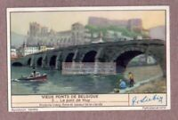 Old Belgian Bridge In Huy  Hoie Belgium Pont c60 Y/O Trade Ad Card