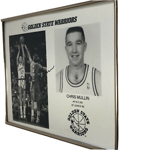Vintage Chris Mullin #17 Signed Autograph Golden State Warriors '85 - '97