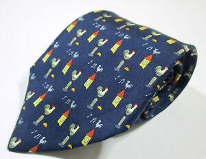 Hermes Paris 7871 UA Animal Print Pattern Blue Color Silk Necktie Tie