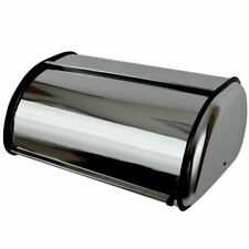 BREAD BIN Stainless Steel Curved Mirror Finish Kitchen Food Storage Loaf Box