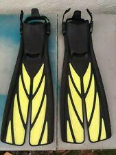 ATOMIC AQUATICS Split Fin - Size L - Yellow / Black