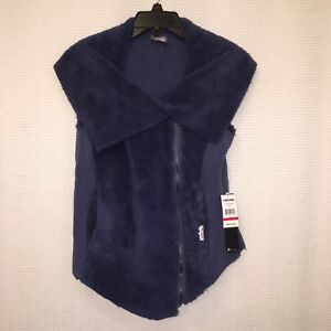 HEAD Classic Fleece Full Zip Vest Womens Small Asymmetrical Blue Ski Snowboard