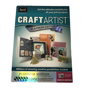 Serif Craft Artist Platinum Edition 5 Discs Includes Built-In Photo Editor NIB