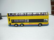 VINTAGE CHINA DIECAST TOY DOUBLE DEKKER BUS COATCH CITYBUS B3X ABOUT 1:55