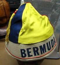 BERMUDA vtg multi-color beanie w/ tassel Somers Isles UK tuque travel skullcap