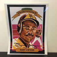 Tony Gwynn Signed Autographed Donruss Diamond Kings 8x10 Photo Picture