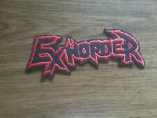 EXHORDER,IRON ON RED EMBROIDERED PATCH