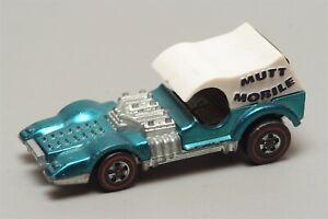 H43 Vintage Mattel Hot Wheels Redline 1971 Aqua Mutt Mobile