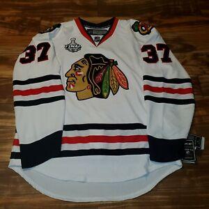 NEW RARE Adam Burish Blackhawks Reebok 2010 Stanley Cup Edge 2.0 Jersey Sz 54