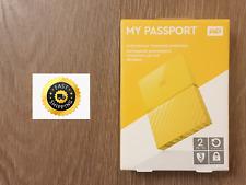 WD My Passport 2 TB Portable Hard Drive - Yellow