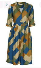 Palava Green Bauhaus Cynthia Dress UK 18