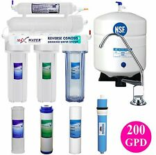5 Stage Reverse Osmosis System 200 GPD RO Water Filer
