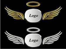 Gold 3D Car Body Logos Tail Sticker Guardian Angel Wings Emblem Graphics Decal
