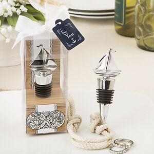 1 Sail Boat Ship Wine Bottle Stopper Wedding Favor Beach Theme Nautical Party