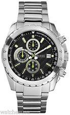 Guess Men's Black Dial Silver Stainless-Steel Quartz Chronograph Watch U16526G1