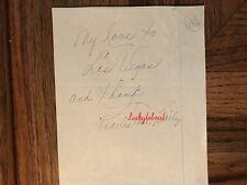Pearlie Mae Bailey American Actress Singer Dancer Original Autograph 1962