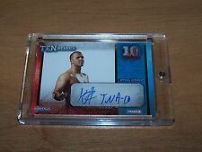 2012 Tristar TNA TENacious Trading Card Kazarian Autograph # 66/100 GOLD