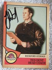 Chicago Blackhawks Ted Dent Signed 12/13 Rockford IceHogs Card Auto