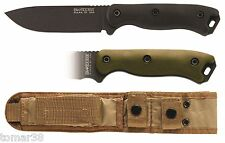 KA-BAR #BK-16 BECKER SHORT DROP POINT FULL GRIND KNIFE w/ EXTRA HANDLE SET
