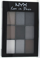 NYX Eyeshadow Palette LIP01 A LA MODE Love in Paris black grey MATTE + SHIMMER