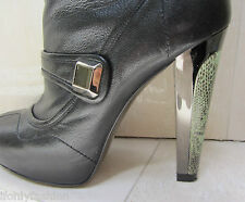 BARBARA BUI FRANCE LIZARD Heel Ankle Zipper Short Platform Boot Booties Shoes 41