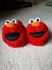 """Elmo Sesame Street Red unisex Sock Top Slippers Toddler Little Kid sz s 5-6 8"""""""