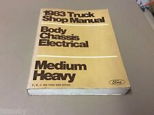 FORD 1983 TRUCK SHOP MANUAL, BODY, CHASSIS, ELECTRICAL, MEDIUM HEAVY