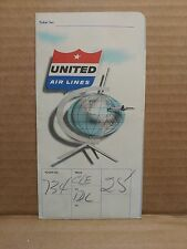 1958 United Air Lines Ticket Folder & Special Service Ticket Stub Airline Flying