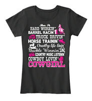 Women Christmas Black - Cowgirl Women's Premium Tee T-Shirt