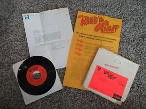 """Beatles RARE 1976 JOHN LENNON """" WHATS IT ALL ABOUT """" 45 WITH MAILER AND INSERTS!"""
