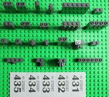 LEGO Dark Grey Bricks 1x1 1x2 1x4 1x6 - Many Technic / Mods VGC #W431-5
