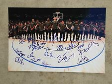 2016-17 GOLDEN STATE WARRIORS team signed 12x18 photo ~ 16 signatures!
