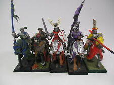 Warhammer Fantasy Age of Sigmar Bretonnian OOP Knights of the Realm X5 /one old
