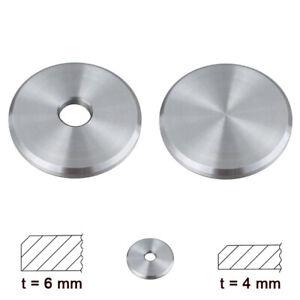 Ronde Edelstahl Ronden geschliffen gedreht Platten Rohrverschluss Platte Fase