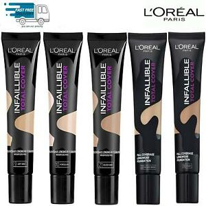 LOREAL INFALLIBLE TOTAL COVER FOUNDATION 35ml MAKEUP - CHOOSE SHADE