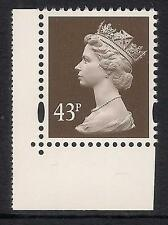 GB 1998 sg Y1717a 43p Sepia photo. 2 bands perf. 14 booklet stamp MNH ex Y1711a