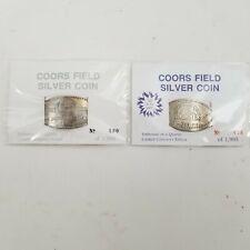 1995 Colorado Rockies Coors Field Inaugural Season Silver