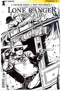 The Lone Ranger: Vindicated #1 - Incentive Marc Laming Black & White Cover!