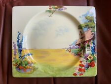 More details for clarice cliff  biarritz  cottage royal staffordshire rectangular dinner plate
