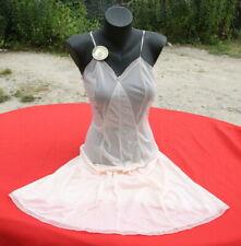 Combinaison fond de robe chemise de nuit vintage nylon LE CHAT 42