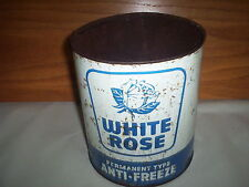 White Rose Canadian Oil Companies Anti-Freeze Oil Can Tin 1 Imperial Gallon